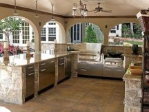 Modern outdoor kitchen designs ideas 16