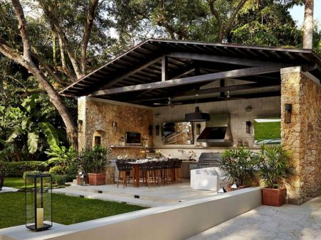 Modern outdoor kitchen designs ideas 27