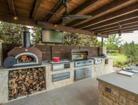 Modern outdoor kitchen designs ideas 30