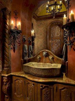 Newest gothic bathroom design ideas 35