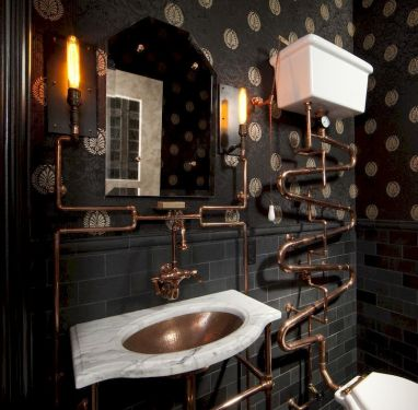 Newest gothic bathroom design ideas 45