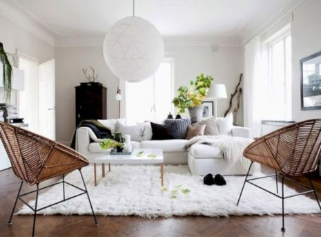 Stunning scandinavian living room design ideas 25