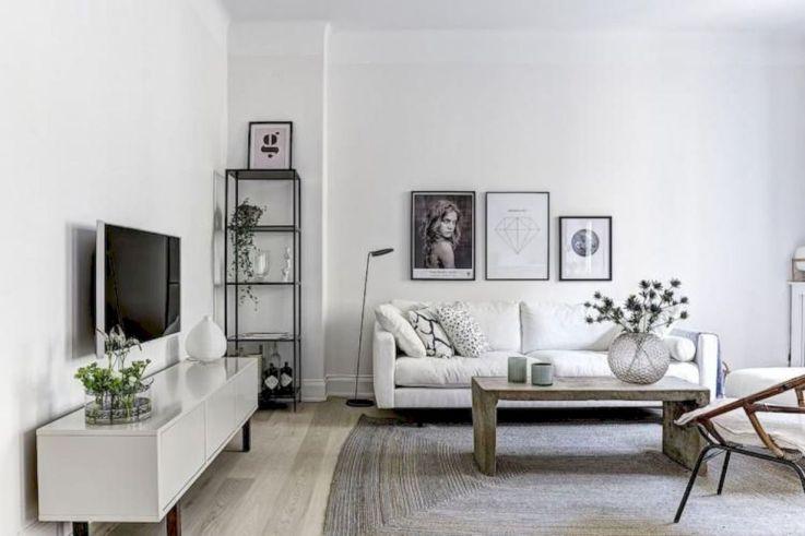 Stunning scandinavian living room design ideas 44