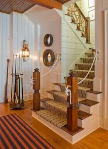 Unique coastal stairs design ideas for home this summer 01