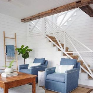 Unique coastal stairs design ideas for home this summer 20