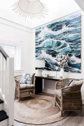 Unique coastal stairs design ideas for home this summer 44