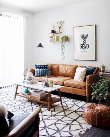 Unique mid century living room décor ideas 16
