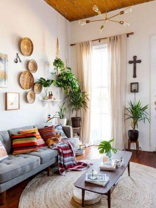 Unique mid century living room décor ideas 17