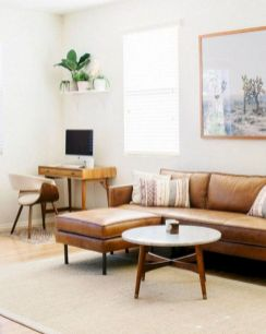 Unique mid century living room décor ideas 24