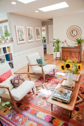 Unique mid century living room décor ideas 43