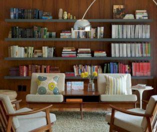 Unique mid century living room décor ideas 44