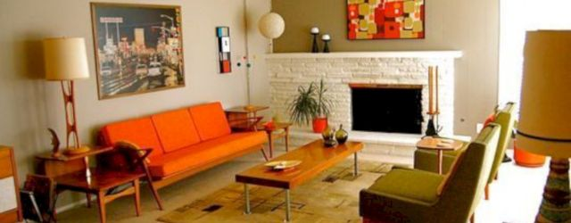 Unique mid century living room décor ideas 45