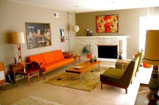 Unique mid century living room décor ideas 45