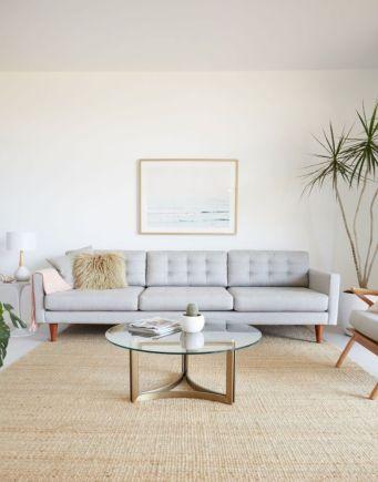 Unique mid century living room décor ideas 48