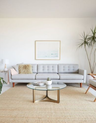 Unique mid century living room décor ideas 48