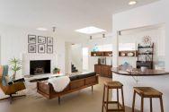Unique mid century living room décor ideas 50
