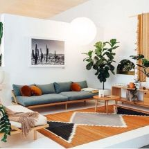 Unique mid century living room décor ideas 51