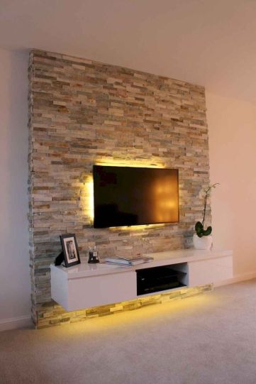 Adorable tv wall decor ideas 02