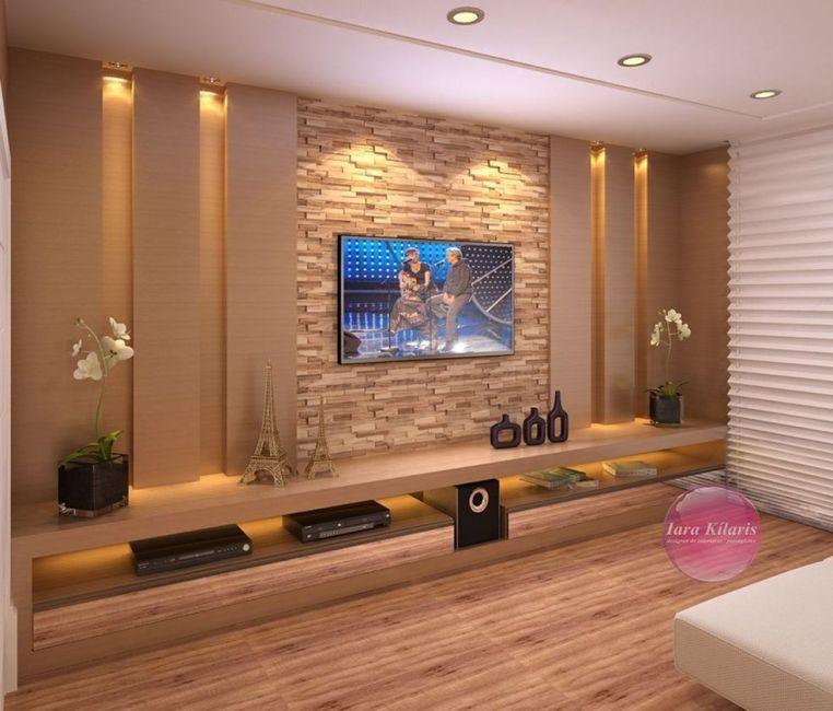Adorable tv wall decor ideas 04