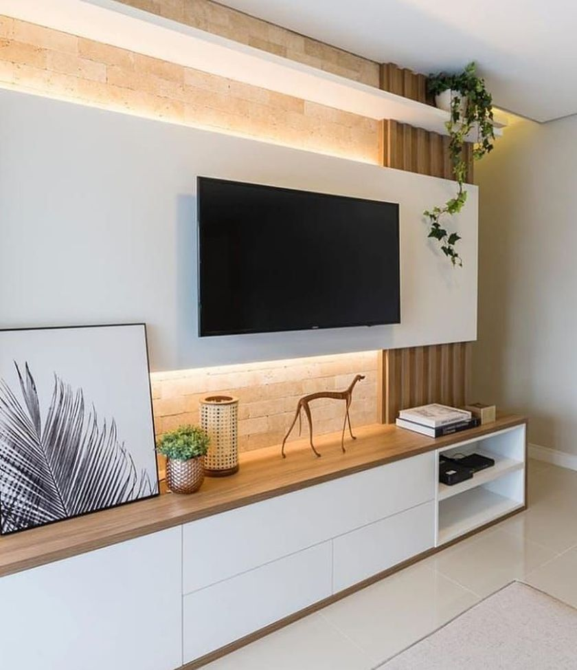 Adorable tv wall decor ideas 32
