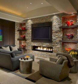 Adorable tv wall decor ideas 44