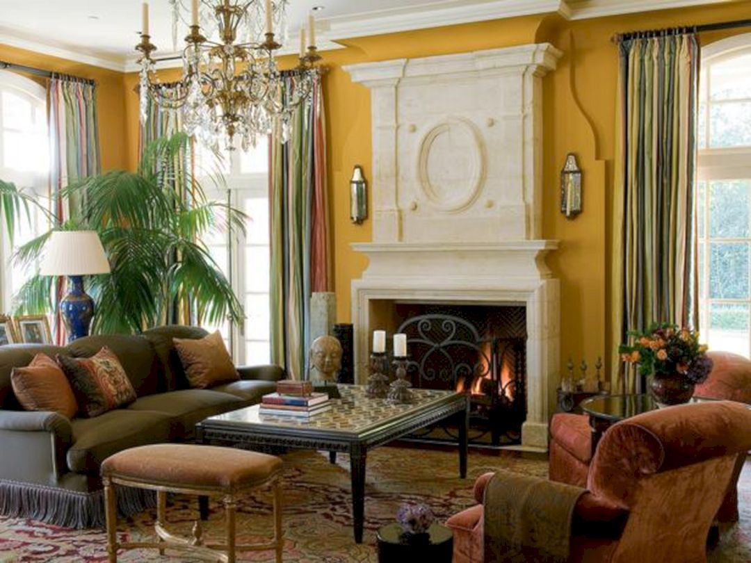 Attractive traditional living room designs ideas in italian 17