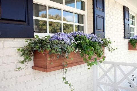 Attractive window box planter ideas to beautify up your home 37