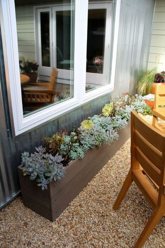 Attractive window box planter ideas to beautify up your home 41