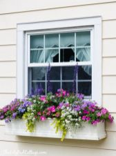 Attractive window box planter ideas to beautify up your home 42