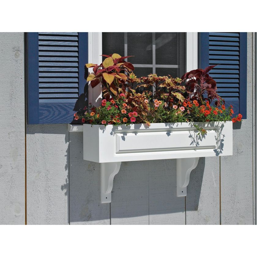 Attractive window box planter ideas to beautify up your home 43