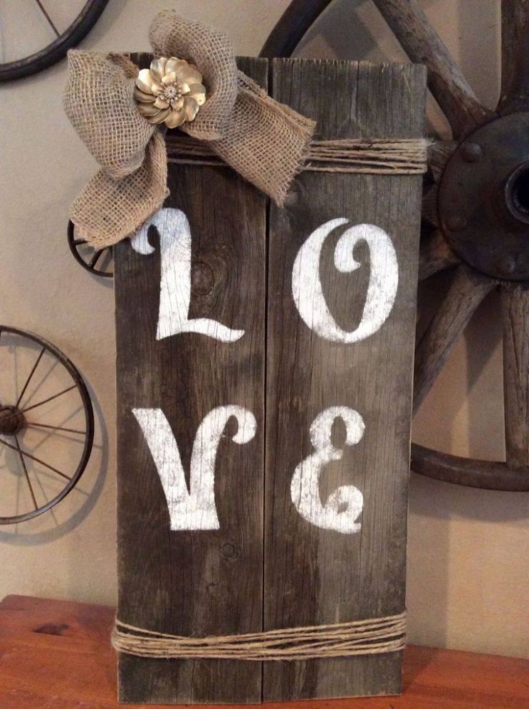 Cute love wood design ideas for you 20