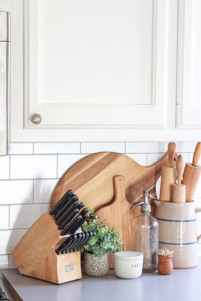 Elegant kitchen desk organizer ideas to look neat 03