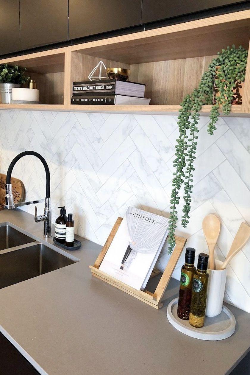 Elegant kitchen desk organizer ideas to look neat 09