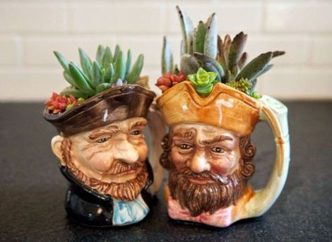 Impressive mini garden mug ideas to add beauty on your home 50