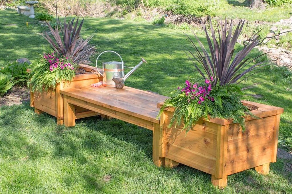 Stunning wood flower box ideas to beautify the flower decoration 23