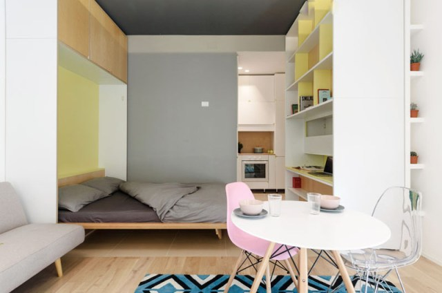 An Impressive Micro-ApartmentWith Transforming Wall That Truly Sophisticated 8
