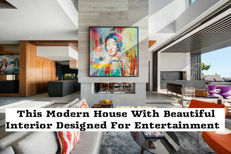 This Modern House With Beautiful Interior Designed For Entertainment