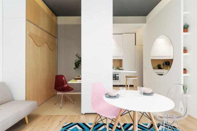 An Impressive Micro-ApartmentWith Transforming Wall That Truly Sophisticated 2