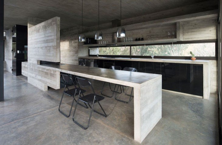 Concrete House Design To Achieve Industrial Appeal But Modern 4