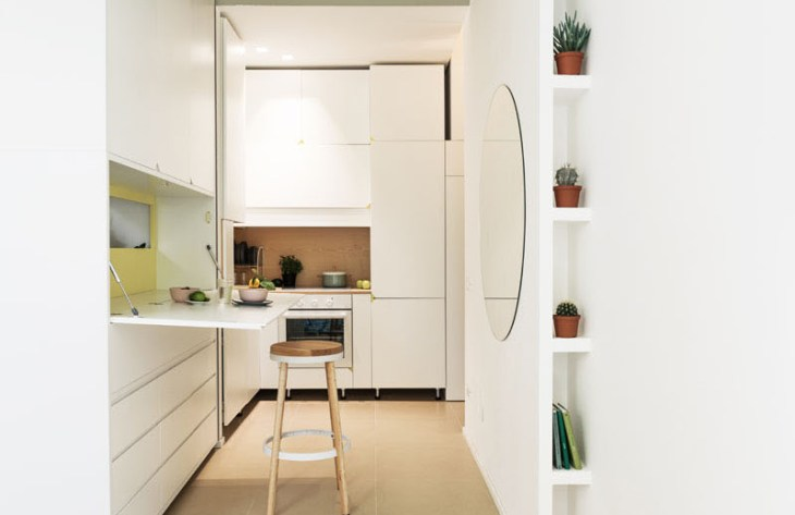 An Impressive Micro-Apartment With Transforming Wall That Truly Sophisticated 6
