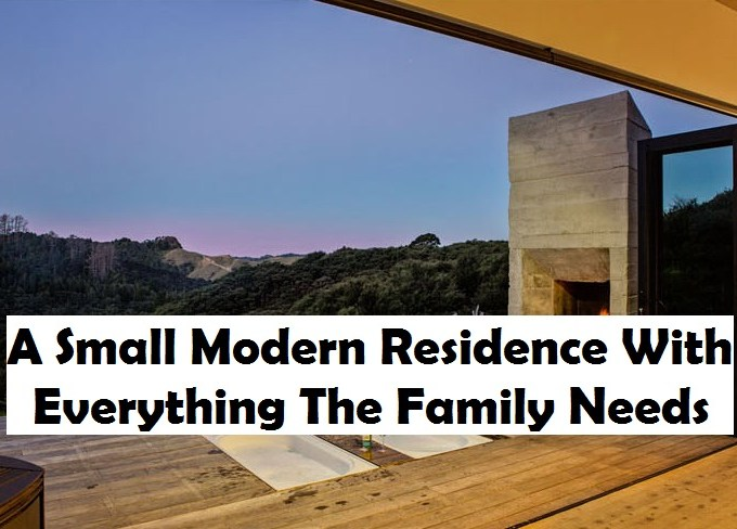 A small modern residence with everything the family needs