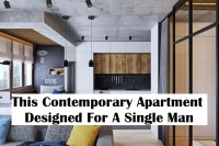 This contemporary apartment designed for a single man