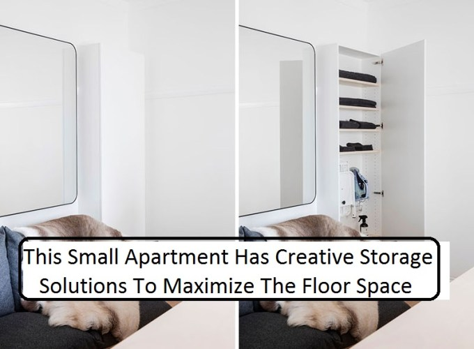 This small apartment has creative storage solutions to maximize the floor space