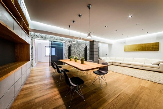 Modern Apartment Design With Monolithic Partition 1