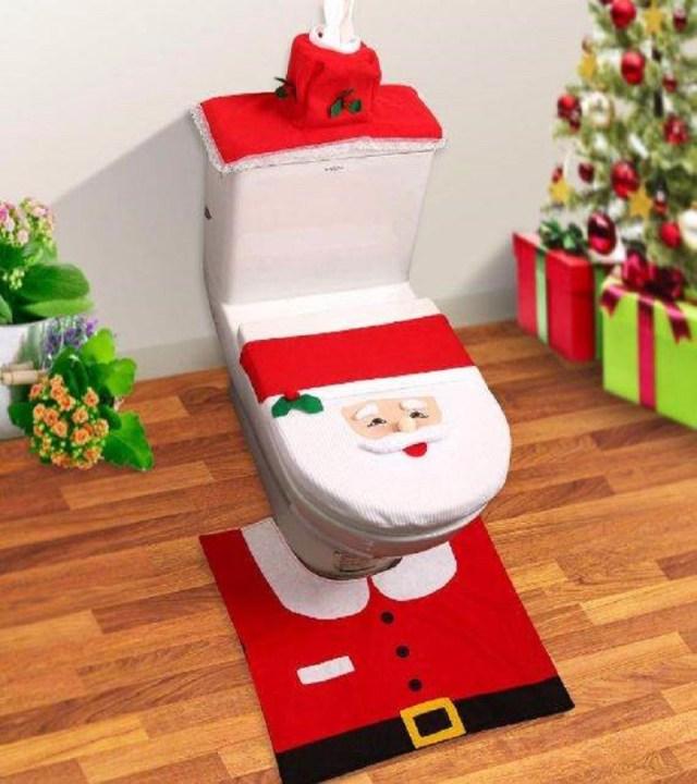 Christmas toilet covers Christmas bathroom accessories Unpredictable Brilliant Bathroom Ideas For Winter Christmas Season