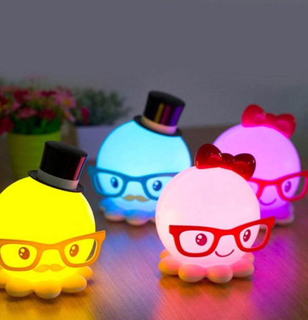 Pretty yet cute octopus kids' night lamp Kids Room Night Lamps To Keep Your Kids on Their Happy Dream