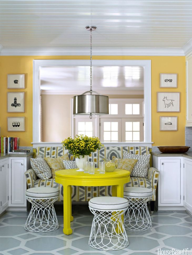 Tucked –away banquette Precocious Solutions For Home With No Dining Room To Throw Away Your Worry