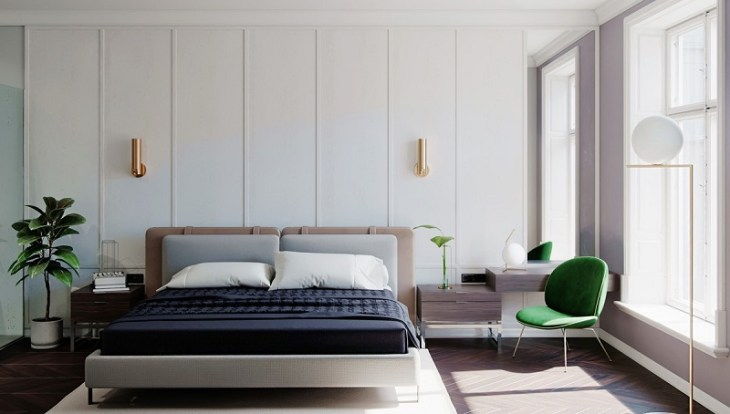 White bedroom scheme