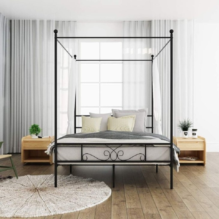 Canopy metal bed frame Hypnotize Bed Frames Where You Can Rest Easily With Style