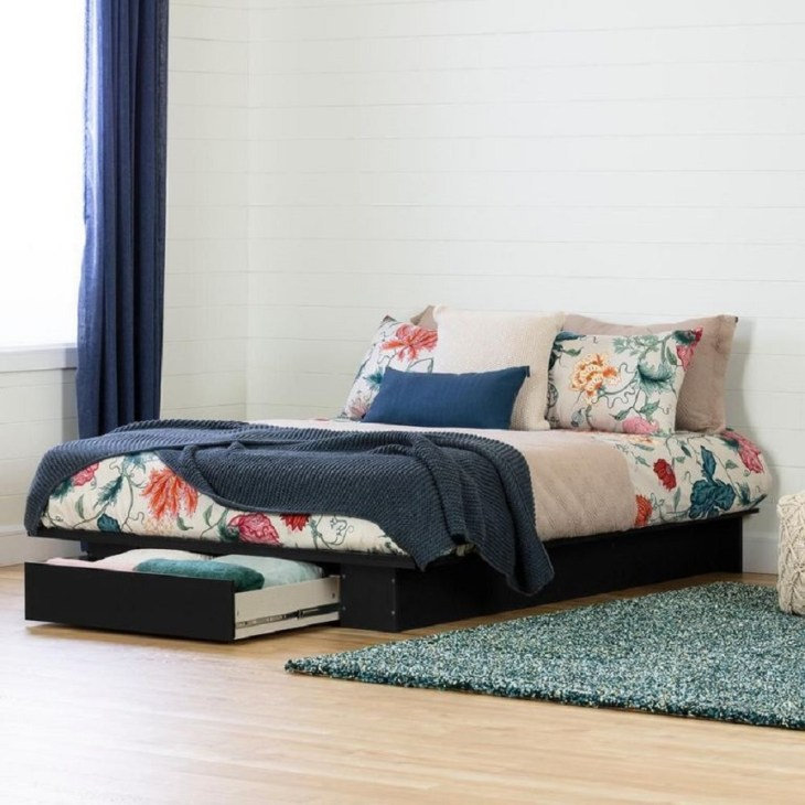 Holland 1-drawer platform bed Hypnotize Bed Frames Where You Can Rest Easily With Style